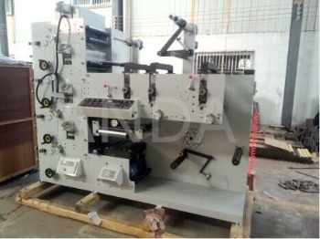 Label Flexo Printing Machine With 3 Rotary Die-cutting Units AFP-320G450G